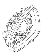 Espejo retrovisor Opel-Genuino NUEVO - 13188497