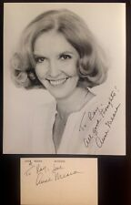 Vintage Anne Meara hand signed 7 15/16 x 9 3/4 photo AND 3 x 5 card