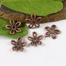 50pcs copper-tone plum flower charms findings h1378