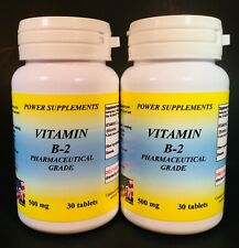 Vitamin B-2, migraine aid, cataracts, energy - 60 (2x30) tablets. Made in USA.