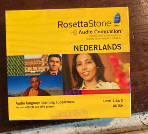 Rosetta Stone Nederlands / Dutch / Level 1,2,&3 / Brand New Sealed Box CD'S