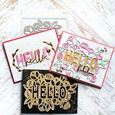 HELLO Letter Metal Cutting Dies Word Scrapbooking Making Stencil Troqueles Card
