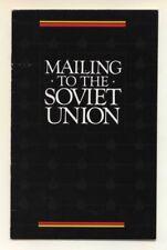 Correo a la Unión Soviética, Servicio Postal de Estados Unidos asesoramiento en la URSS, Rusia, 1985