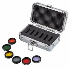 6 pcs Color Astronomical Telescope Optical Filters with Aluminum Storage Box