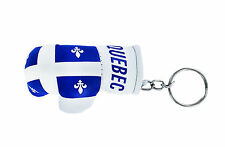 mini boxing gloves keychain keyring key chain ring NEW leather flag QUEBEC