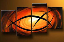 Wall Art Home Decoration Handmade Oil Paintings on Canvas Modern Abstract 4pcs
