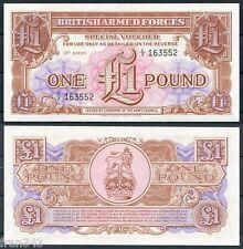 GRAN BRETAÑA GREAT BRITISH FUERZAS ARMADAS 1 libra pound 1956  Pick M29 SC / UNC