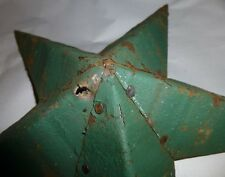 Rustic Genuine USA Amish Made Quality Primitive Tin 42 inch Barn Star DARK GREEN