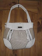 Ladies Womens Handbag Purse Hobo Gloria Vanderbilt Shoulder Bag White Natural