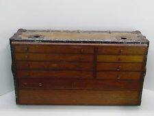 Vintage Antique Machinists  Tool Box Chest made inside vintage trunk suit case