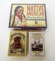 Vintage Playing Cards Native American Civil War Battles Highlanders Sealed Decks