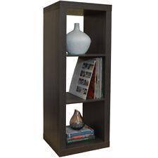 3 Cubby Square Display Shelves / Vinyl LP Record Storage - Walnut 5113OC