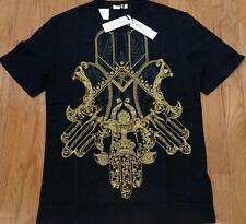 Mens Authentic Versace Collection Baroque Hemsa T-Shirt Black/Gold Large $195