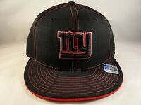 NFL New York Giants Reebok Size 7 3/8 Fitted Hat Cap Black Red