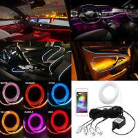 Bluetooth Phone APP Control RGB 4 LED Car Door Dash Ambient Light 6m Neon Strip