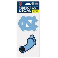 "North Carolina Tarheels 2 Pack 4""x4"" Car Decals -NEW UNC Auto Emblem Sticker CDG"