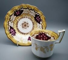 Antique English Porcelain Coalport Coffee Cup & Saucer C1825 Patt 2/66