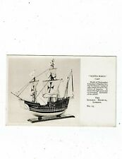 """POST CARD A LONDON SCIENCE MUSEUM CARD OF THE """"SANTA MARIA"""""""