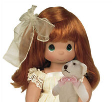 "Precious Moments Cherish Me Always Redhead Girl with Teddy Bear 12"" Doll New"