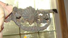 "1 Vtg Antique Brass Drawer Pull Handles, CAST Ornate Detailed  4 1/4""  L"