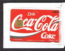 Denmark 1994 Coca Cola 100 DKR mint sealed chip card. 2,876 issued.