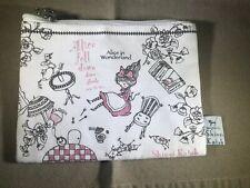 Shinzi Katoh Alice in Wonderland Small Zippered Pouch Wallet Sereno NWOT