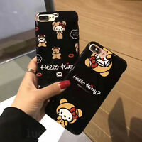 Girl's Cute Cartoon Bear Hello Kitty Soft TPU Case Cover for iPhone 6/6S/7 Plus