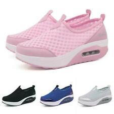 Women's Shake Nurse Slip On Pumps Breathable Loafer Platform Workwear Shoes Size