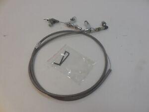 Chrysler 904 Transmission Stainless Braided Flexible Kick Down Cable Kit Detent