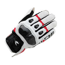 RS Taichi RST410 Mens Perforated leather Motorcycle Mesh Gloves Red/white M