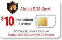 $10 Alarm SIM Card for GSM Home Security Alarm System + GPS Tracker - Nationwide