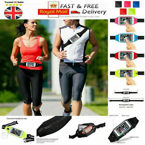 WaistBand Sports Belt Phone Holder Case Running Gym For iPhone Samsung Models