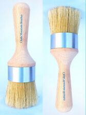 Chalk Painting Furniture Wax Brushes Boar Bristle 1 for dark & 1 for clear wax