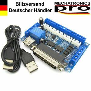 5 Axis CNC Breakout Board mit USB und Optokoppler Schrittmotor Driver MACH3
