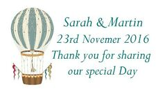 42 Large Personalised Labels hot Air Balloon 277 / Address / Hobbies  (Stickers)