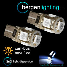 2X W5W T10 501 CANBUS ERROR FREE WHITE 5 LED INTERIOR COURTESY BULBS IL101301