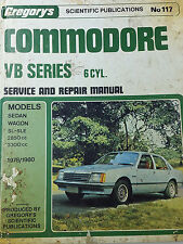 Gregorys SP No 117 Holden Commodore VB Series 6 Cylinder Service & Repair Manual