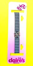NEW! Claire's Choker Necklace Fashion Jewelry Accessory Fabric Gingham Flower