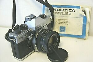analoge Praktica MTL5b Kamera mit 50mm / 1,8 M42 + Revuenon 75-205mm / 3,5 Tele