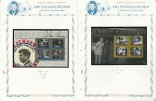 Tuvalu Collection, John Kennedy on 7 White Ace Pages, Mint NH Sheets