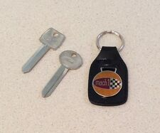 NOS Ford 1969-1970 Mach 1 Mustang original small hole key set uncut. Mach 1 fob!