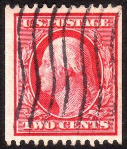 1909, US 2c, Washington, Used, Sc 349