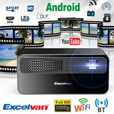 7000 Lumens Wifi BT Home Theater Mini DLP Wireless Video Projector HD 1080P 16GB