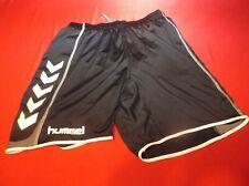 HUMMEL Black White Medium Size Soccer Shorts Sports Basketball Clothing NEW