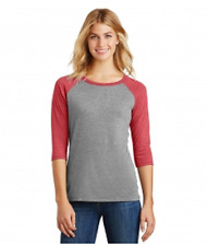 New DistRict Made 3/4 Sleeve Tri Blend Baseball Tee Top 4X  MSRP $24.00