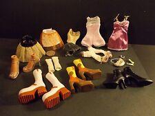 BRATZ CLOTHES & ACCESSORIES LOT OUTFITS SKIRTS SHOES + BZ3000