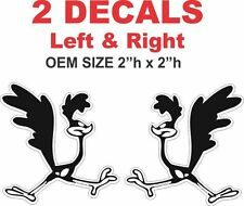 2 Left and Right Vintage Superbird Roadrunner Road Runner Vinyl Decals 1968 68