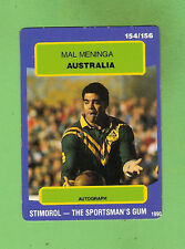 1990 RUGBY LEAGUE CARD #154  MAL MENINGA , AUSTRALIA