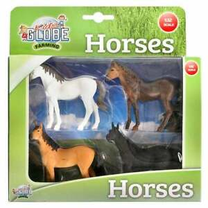 Kids Globe 4 horses 1:32 0199