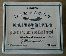 Elgin 0 size. No 825. Mainspring. Damascus. Movement. Parts. New Old Stock.